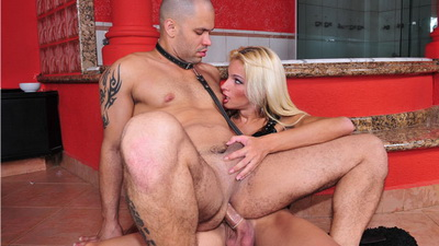 Horny shemale enjoys being pounded